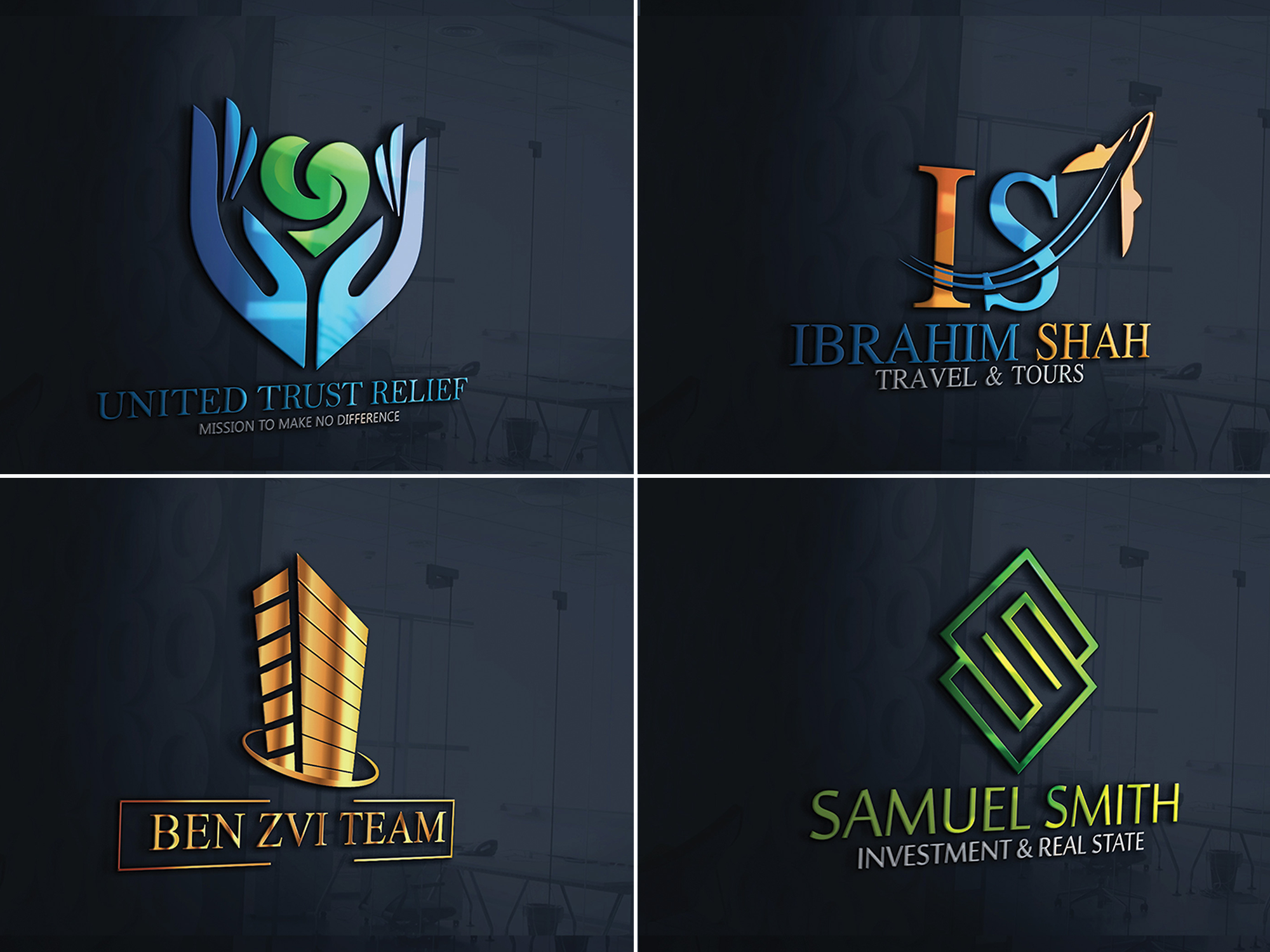 hassamshamsi I will design awesome 3d brand logo with