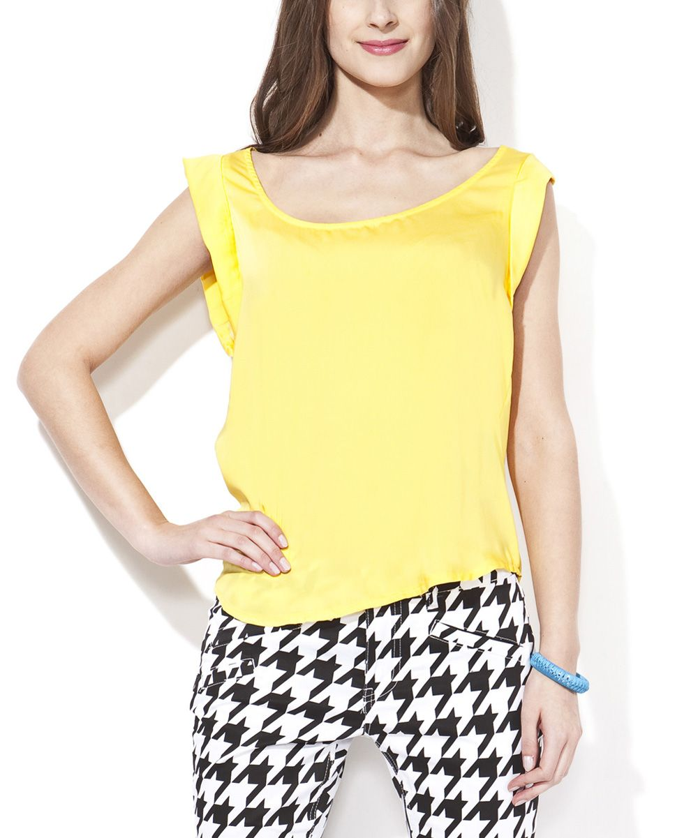 Yellow Cap-Sleeve Top | Collection PRC