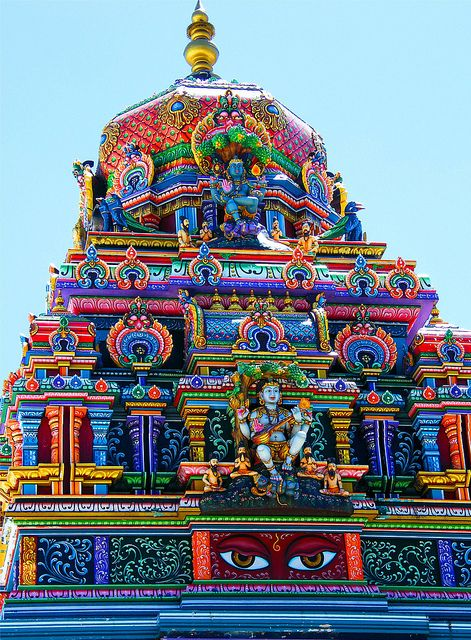 Sri Siva Subramaniya Temple, Fiji.  There are festivals every month at this colorful Hindu temple.
