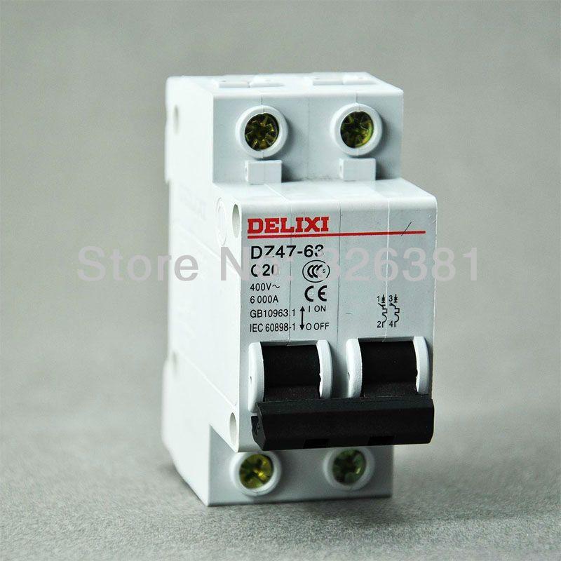 Delixi Brand Dz47 63 C20 Type 2p Ac 400v Circuit Breaker 16a 63a Air Switch Lighting Distribution System S Izobrazheniyami Osveshenie Vyklyuchatel Tipi