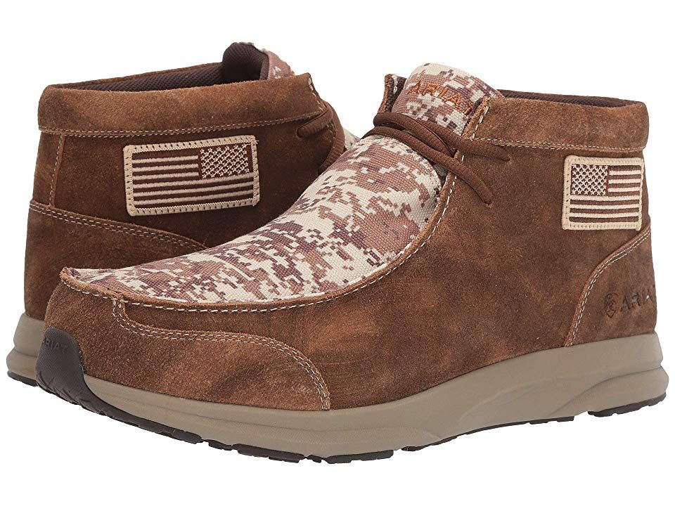 e5faec98753 Ariat Spitfire Patriot Men's Lace-up Boots Antique Mocha Washed ...