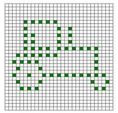 TRACTOR Filet Crochet Pattern