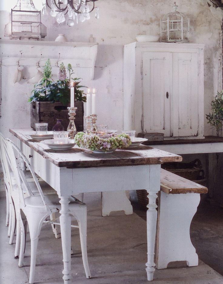 Vintage Landhausstil Esszimmer Shabby Chic Franzosiches Landhaus