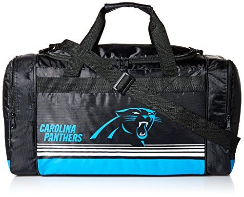 Carolina Panthers Medium Striped Core Duffle Bag Hand-Made Product!  Licensed Product for the NFL 14906a414
