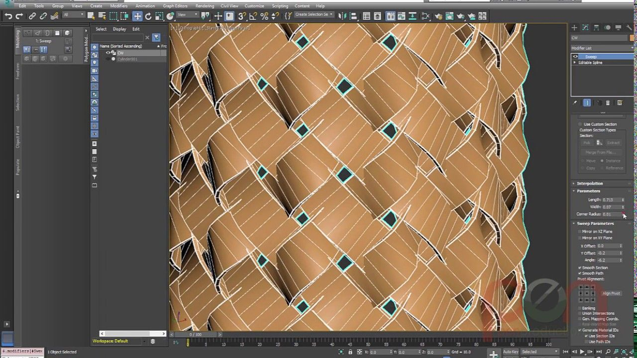 Modeling Braided Cable In 3dsmax 3ds Max Tutorials 3ds Max 3d Tutorial