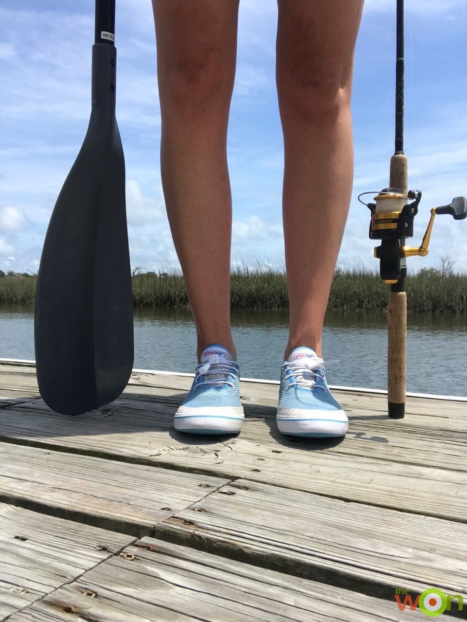 2d9a0ab4f633 Review  XTRATUF Riptide Water Shoe vs. Sneakers on a Paddle Board ...