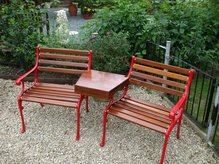 Companion chairs after restoration & Companion chairs after restoration | Restored Garden Seats ...