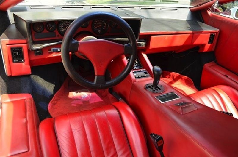 Beautiful Lamborghini Countach Interior