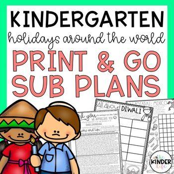 Kindergarten Holidays Around the World Sub Plans