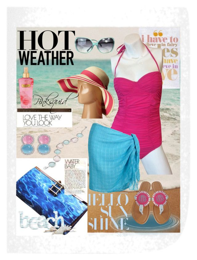 """""""Hot, hot"""" by pinksquid on Polyvore featuring Tomas Maier, Kate Spade, Lauren Ralph Lauren, Victoria's Secret and Chanel"""