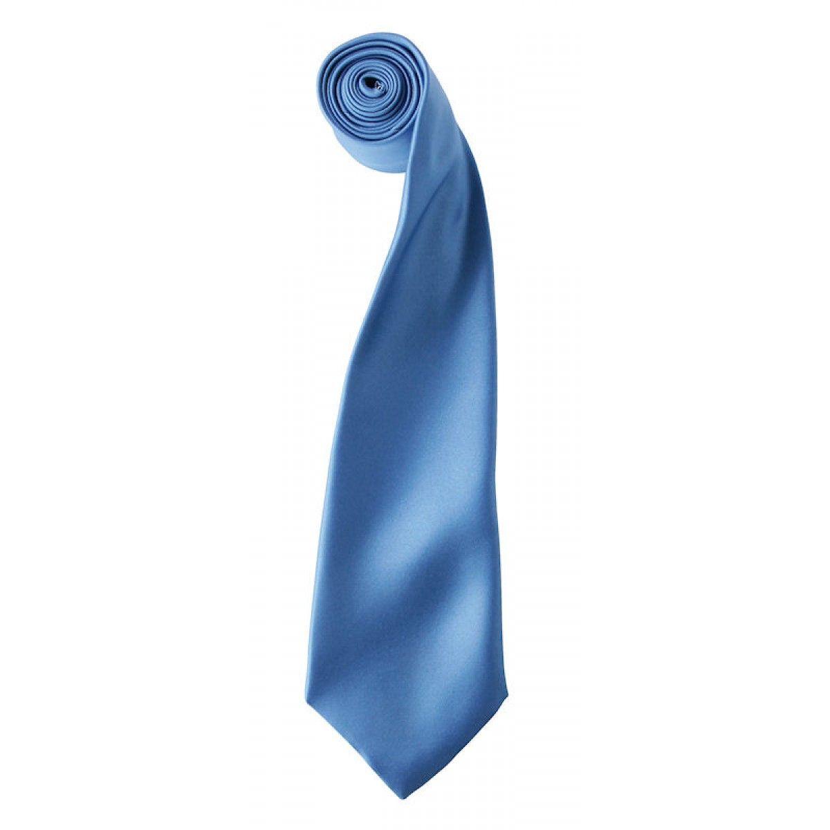Satijnen stropdas zacht blauw
