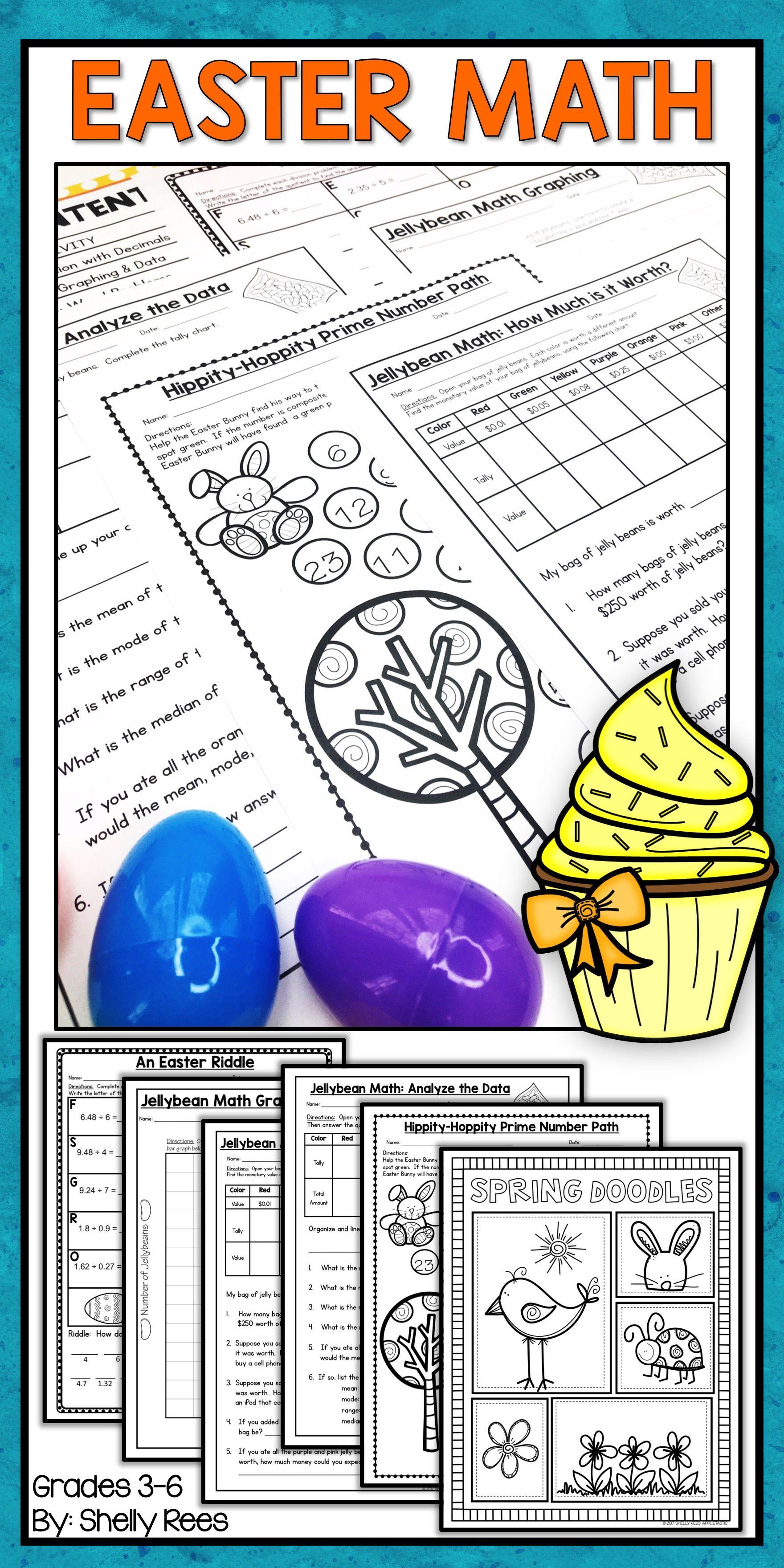 Easter Math Worksheets - Jellybean Math - Easter Activities ...