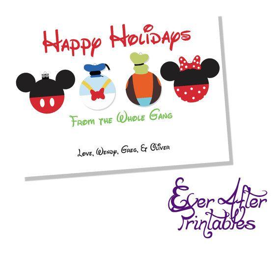 Disney Christmas Card Joy Christmas Card Disney Cards Free Printable Christmas Gift Tags