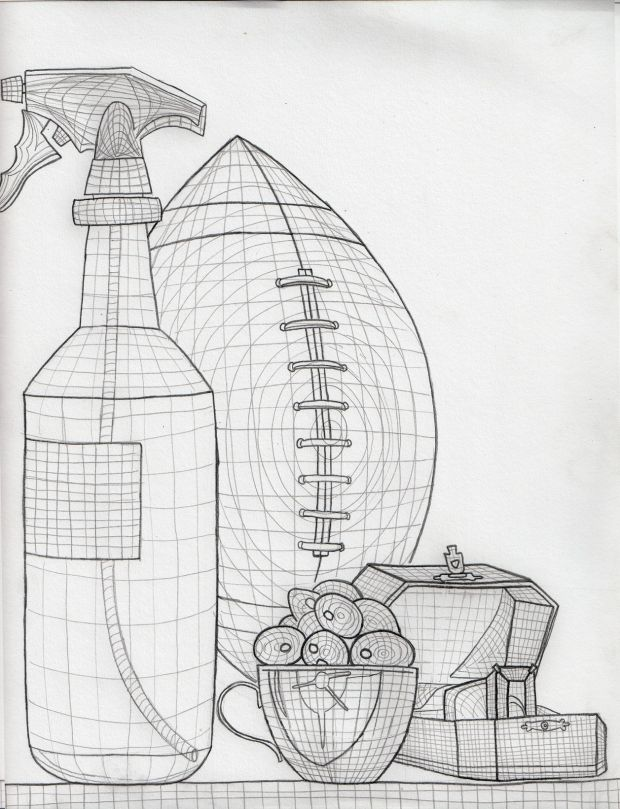 Contour Line Drawing Tutorial : Cross contour still life art ed drawing from