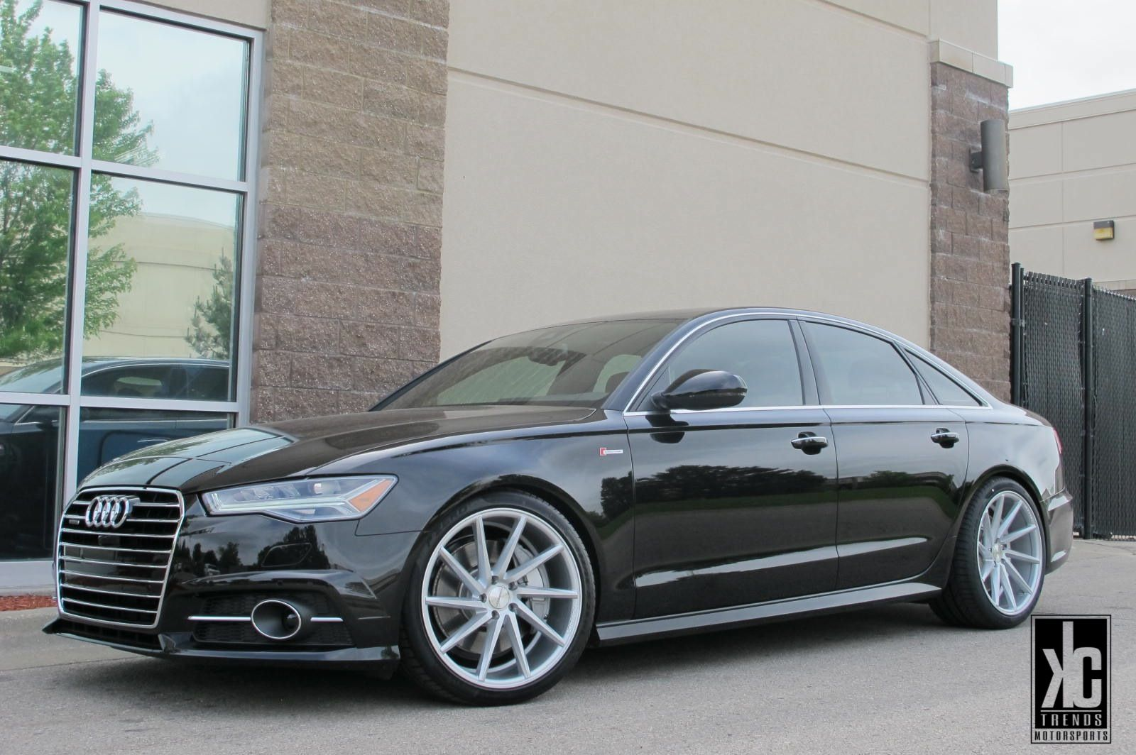 Vossen CVT Silvermachined Concave Wheels Mounted With Pirelli - Audi car tires