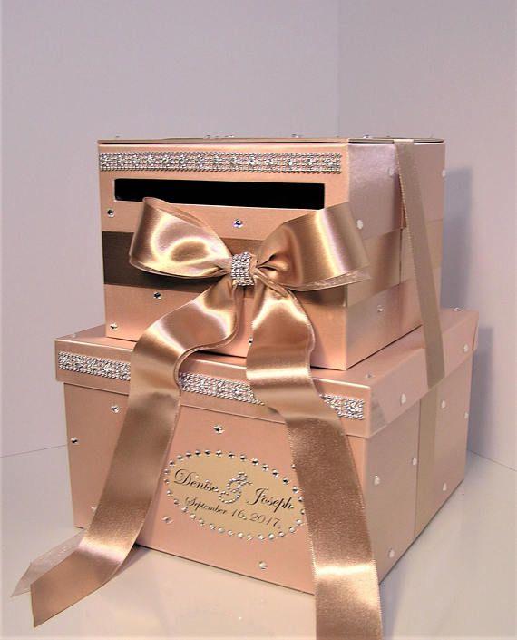 Pin On Rose Gold Card Box