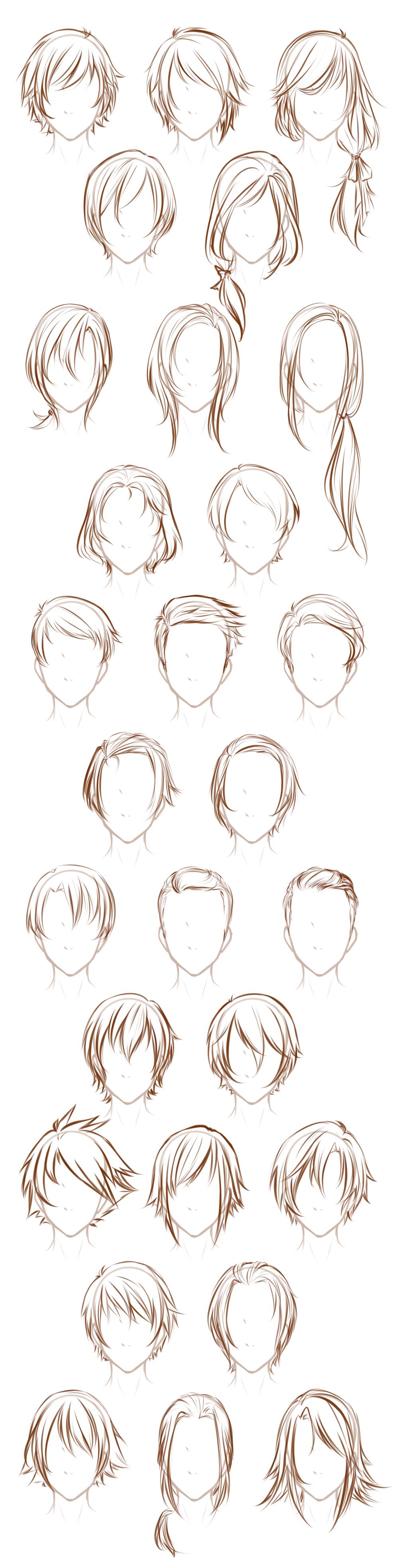 Dibujos De Peinados Tambien Para Hombre Drawins Animes
