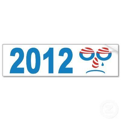 Obama 2012 Sad Face Bumper Sticker  $4.25 ea.