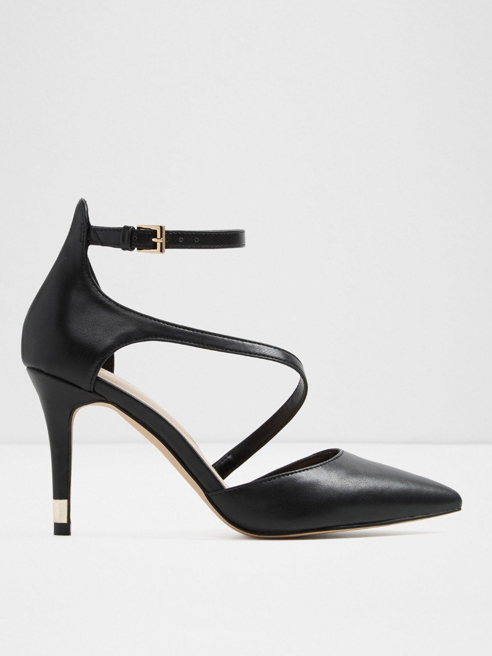 Vetrano Heeled Shoes - Black   Strap