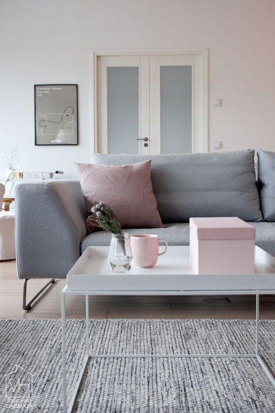 Metallic Grey And Pink 27 Trendy Home Decor Ideas Decoracion De Habitacion Gris Sala De Estar Rosa Decoracion De Habitaciones