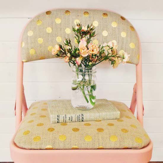 Why settle for an ugly folding chair? Take a little time and spray paint to add some pizzaz to those chairs! (via Whipperberry)