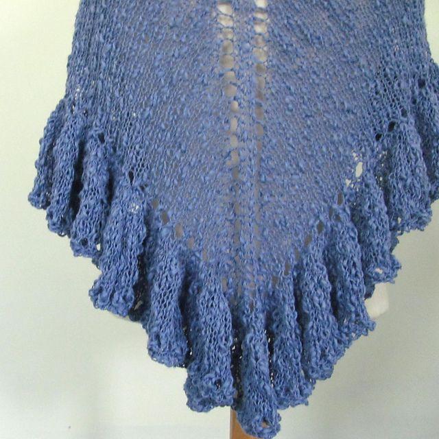 Ravelry Knit Ruffle Border For Triangle Shawl Pattern By Jill