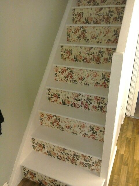My decoupage stairs