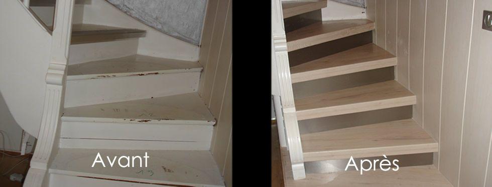 Renovation Escalier Ceruse Blanc Alu Sur Bois Peint