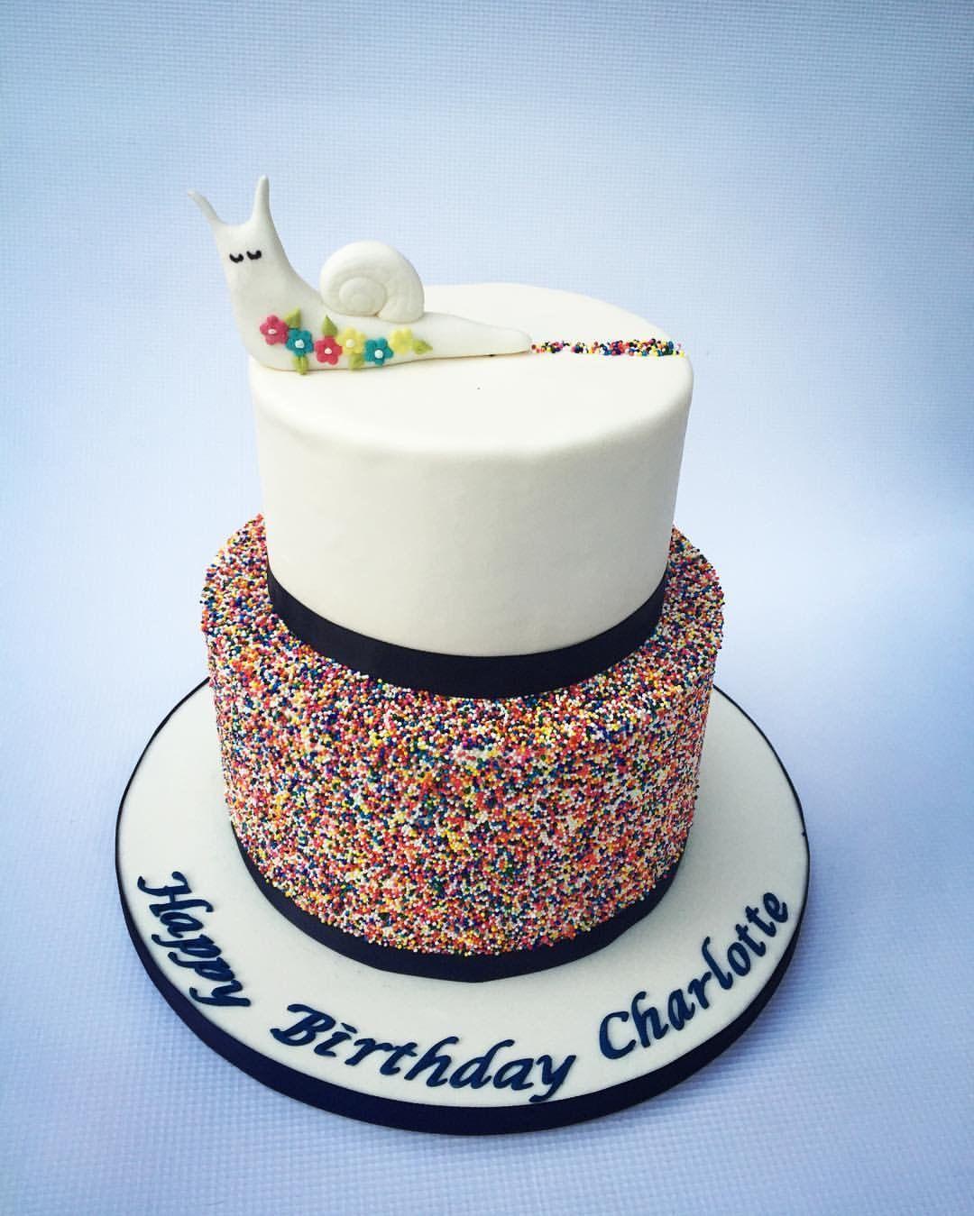 Sprinkles Snail Birthday Cake Sprinklescake Cake Ideasm