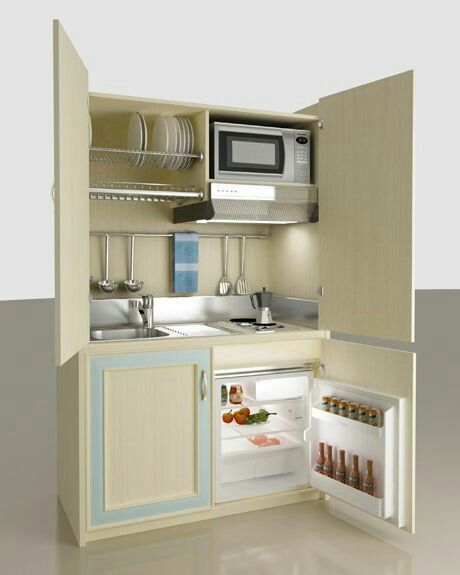 Pin by Marcela Herrera on small kichen Pinterest Kitchenette - Efficiency Apartment Design