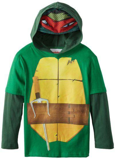 Amazon.com  Teenage Mutant Ninja Turtles Boys 2-7 TMNT Hangdown with Hood 47915c5fc521