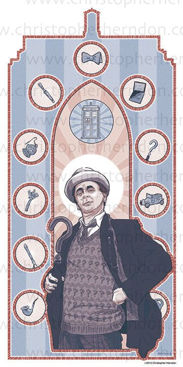 Saint McCoy of Who Screen Print 11x17 Print by ChrisHerndonArt,on Etsy.com $25 Christopher Herndon Artwork Dr Who February 2015