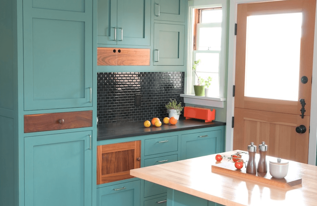30 Must-See Painted Kitchen Cabinet Ideas - http://freshome.com ...