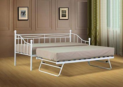 2ft6 Small Single White Paris Metal Daybed bedroom ideas