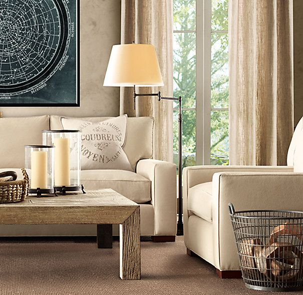 Schoolhouse Wire Basket | Rh living room, House wiring ...
