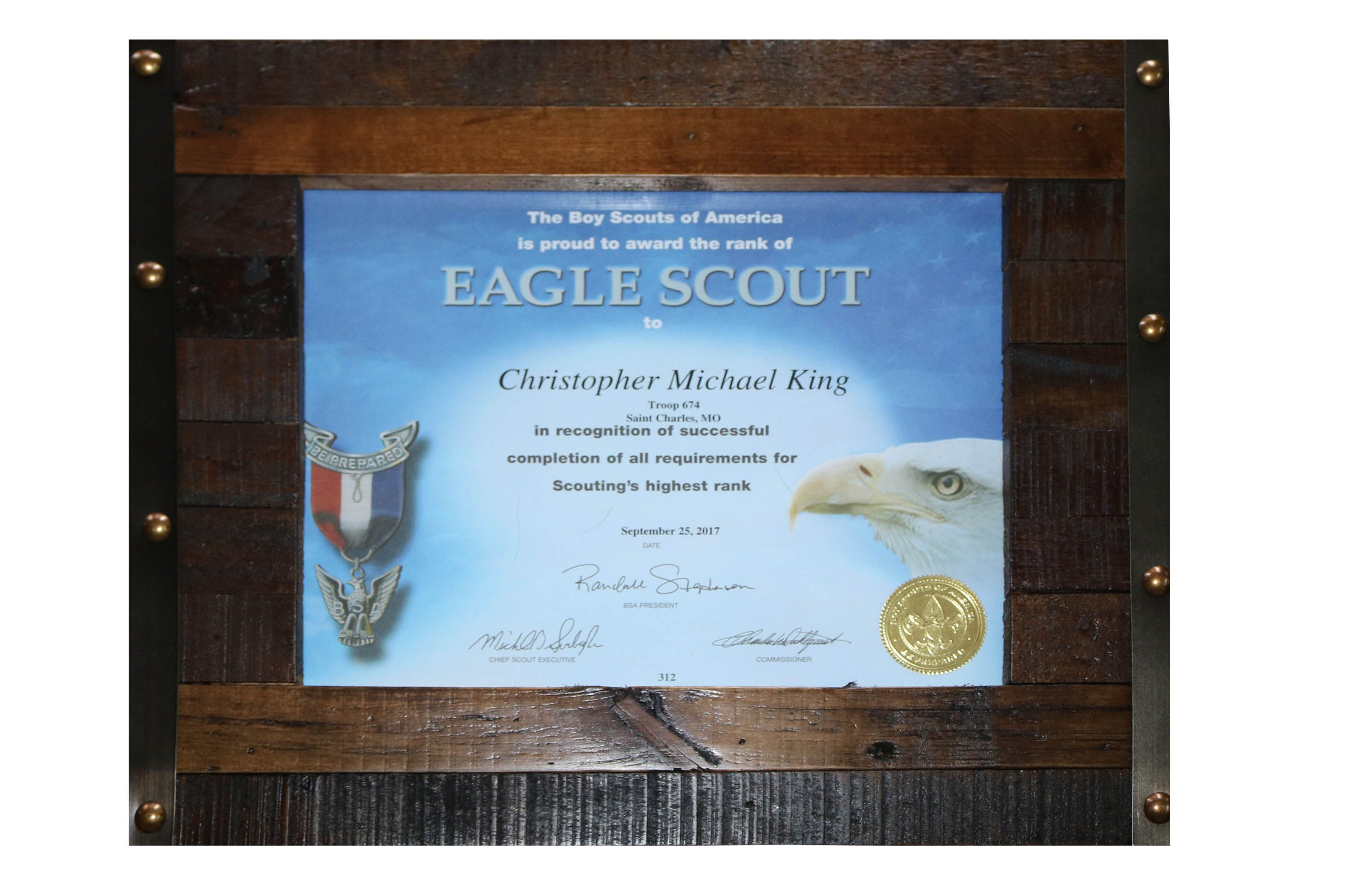 Christophers Eagle Certificate Scouts Pinterest Certificate