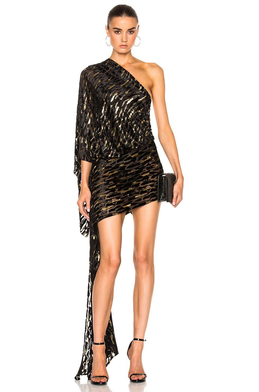 ALEXANDRE VAUTHIER Velvet Jacquard One Shoulder Dress.  alexandrevauthier   cloth   6e4cff33a8c