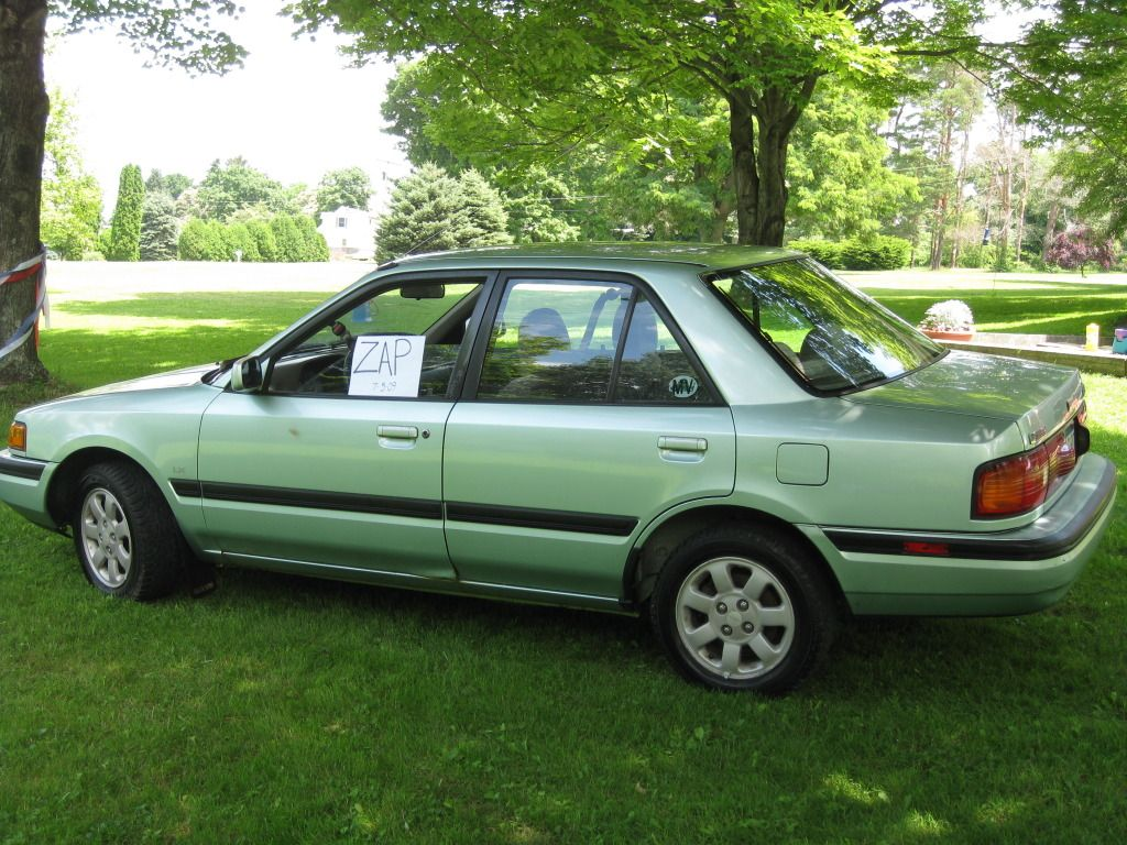 mazda protege from the 90s not my picture not my car but i had one back in 1993 and i loved it loved it loved it loved it mazda protege car mazda protege from the 90s not my
