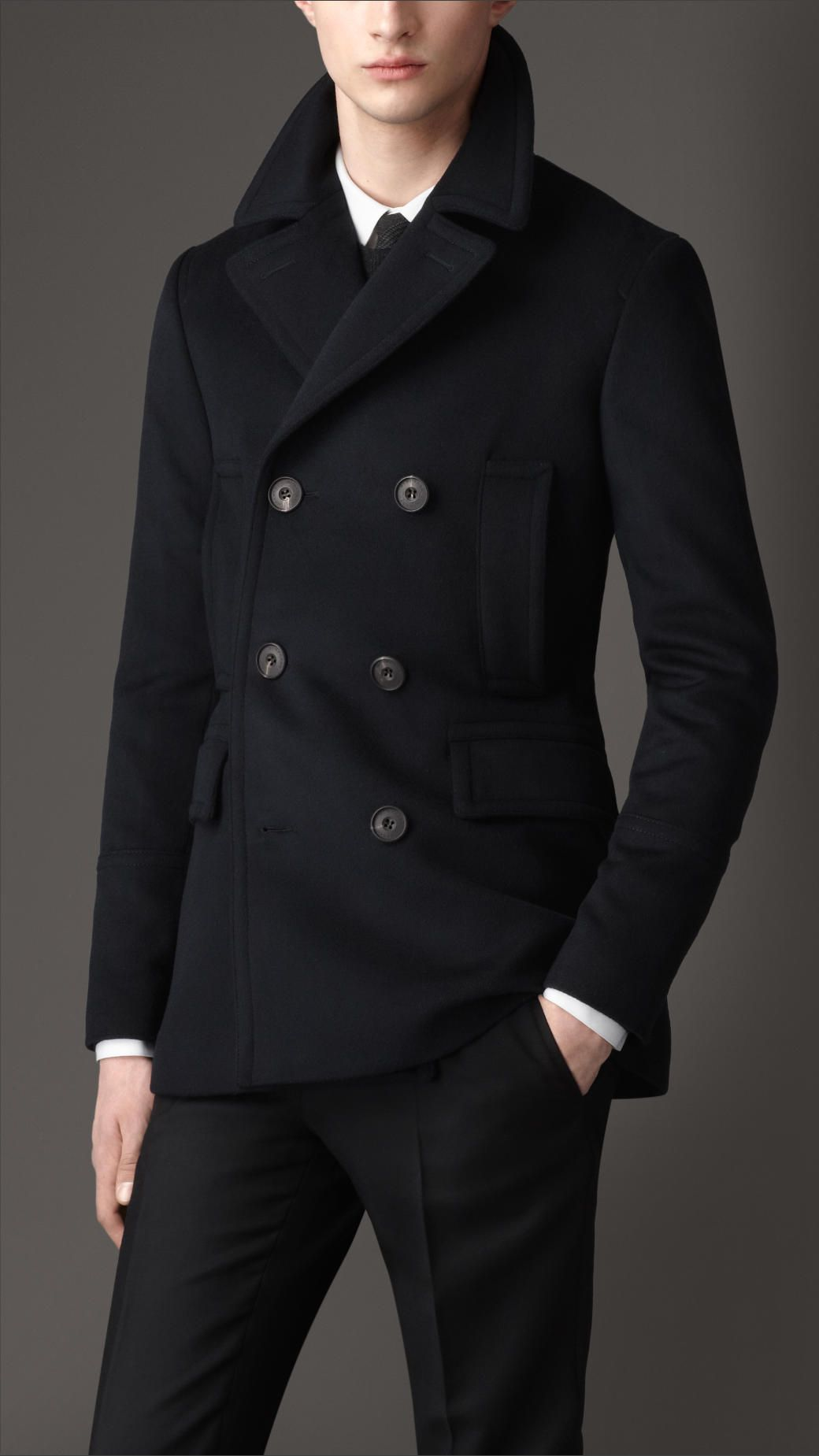 Virgin Wool Cashmere Pea Coat | Burberry | Men's Autumn/Winter ...