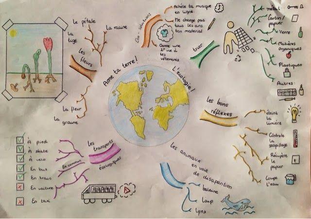 Carte Heuristique But.Lexique De L Environnement Et Du Recyclage En Carte