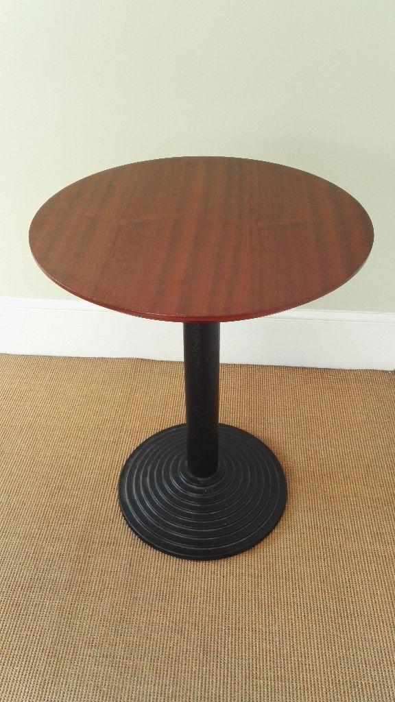 Cherrywoodtop table on black pedestal Kingston, London