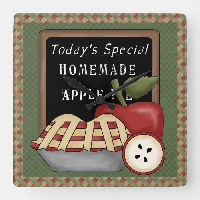 Country Apples - Homemade Apple Pie Wall Clock