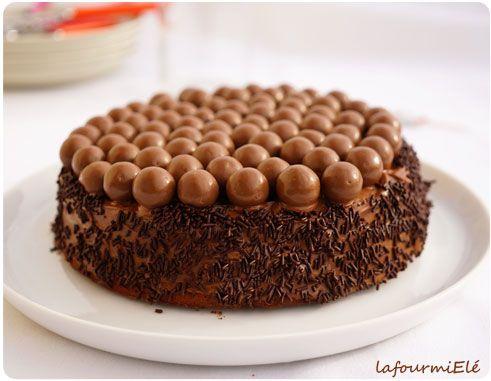 gâteau au chocolat cyril lignac - billes malteser | dessert