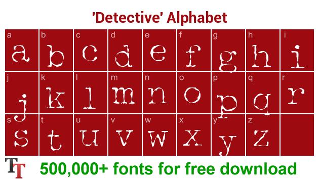 Detective Font – Detective ttf, otf, zip file download