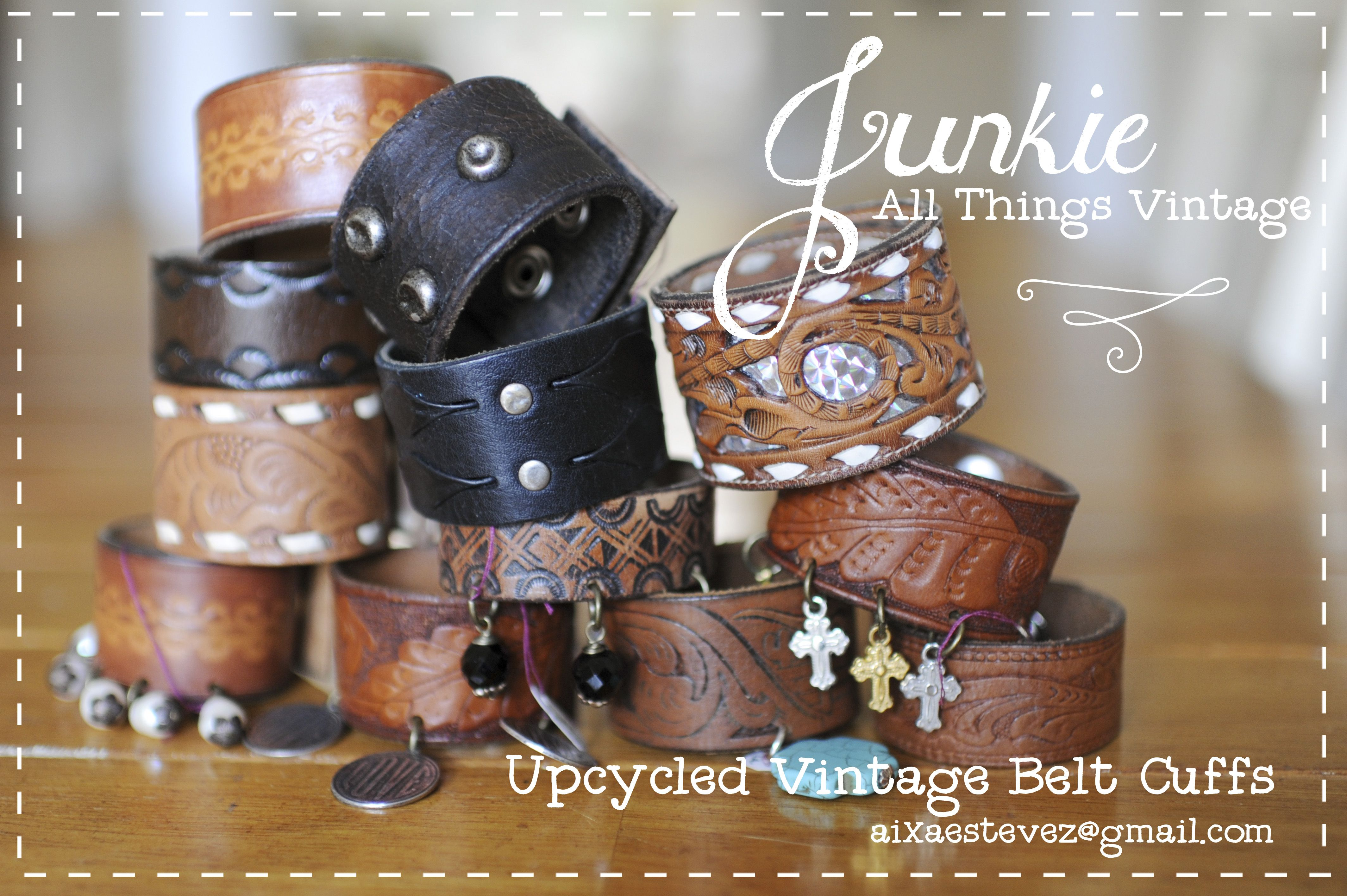 Cool Leather cuffs! https://www.facebook.com/JunkologyByJunkie