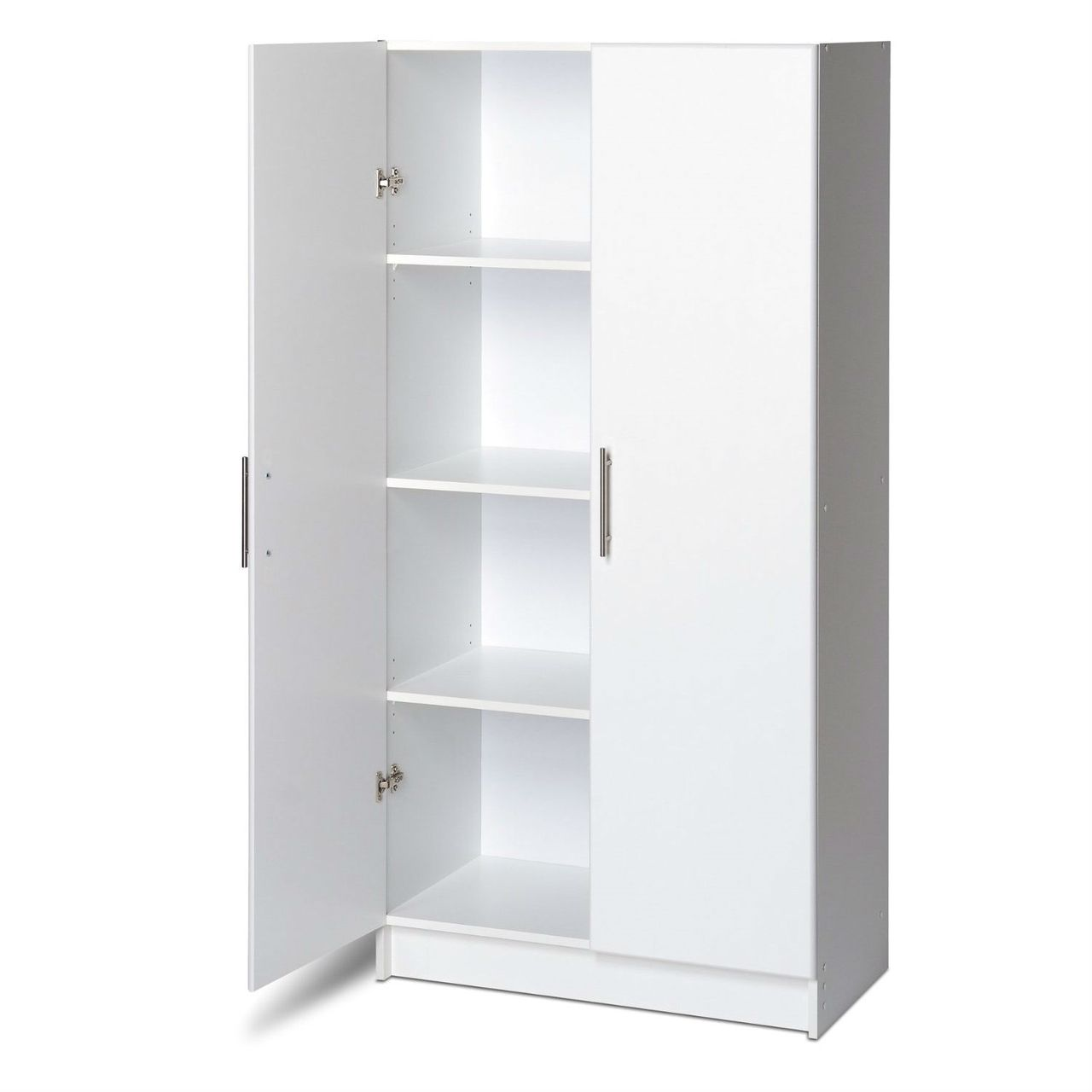 White Storage Cabinet Utility Garage Home Office Kitchen Bedroom White Storage Cabinets White Storage Wardrobe Storage Cabinet