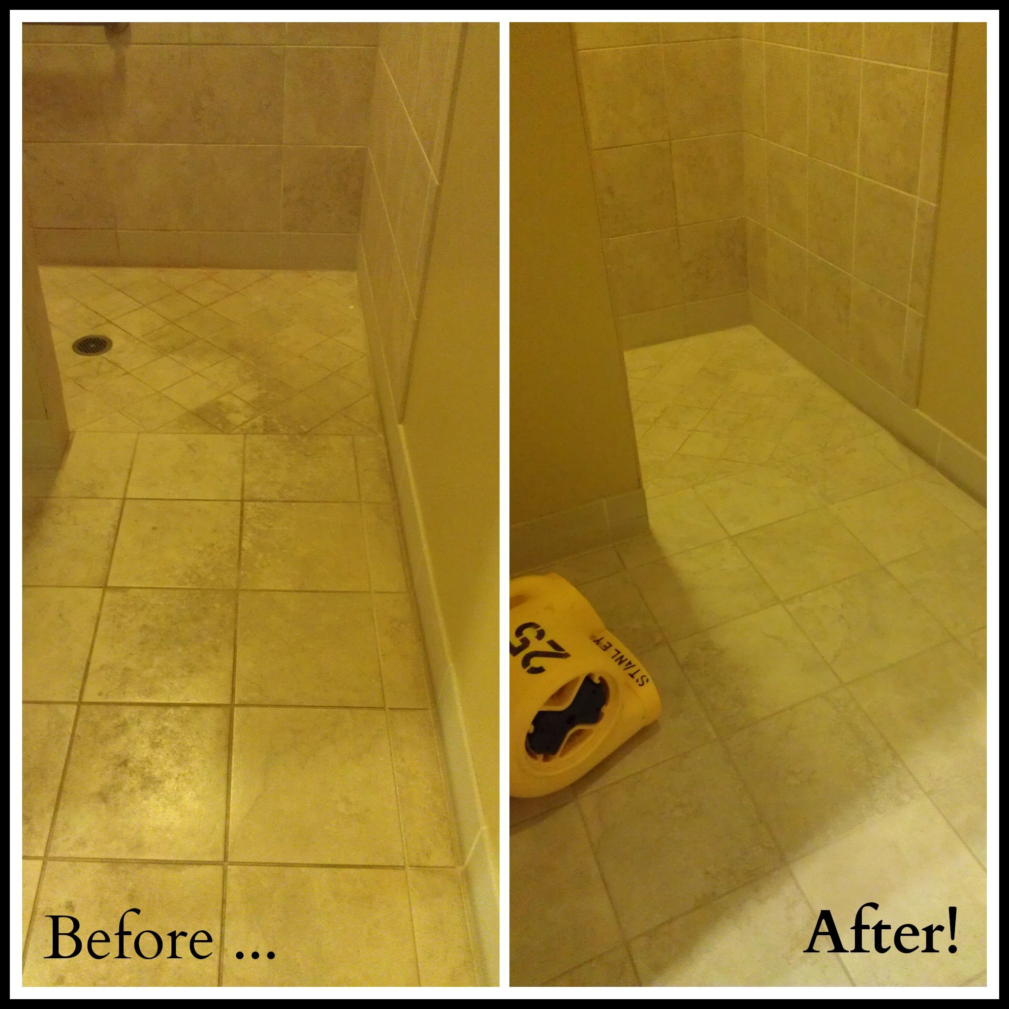 Before After Tile Cleaning From Stanley Steemer