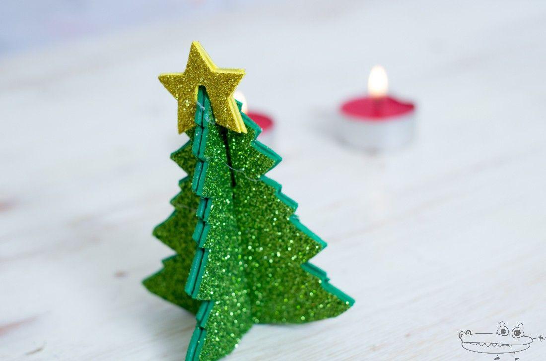 Rbol de navidad 3d en goma eva navidad natale and natal - Como decorar un arbol de navidad ...