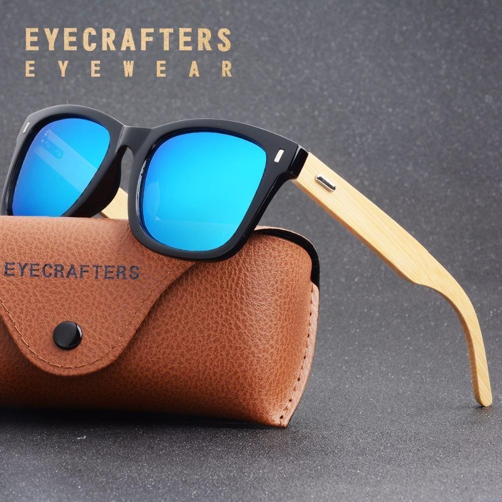 cc082c185c Eyecrafters Retro Bamboo Sunglasses with Polarized Lenses  travel  bamboo   sunglasses  UV400  boating  outdoorfashion  hiking  adventure  polarized    ...