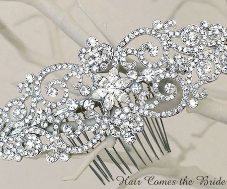 Bella Twilight Inspired Bridal Hair Comb by Hair Comes the Bride - #bride #bridal #wedding #bridalhairaccessories #weddinghairaccessories #bridaljewelry #weddingjewelry